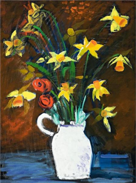 Daffodils in a White Vase, 1985 - Charles Blackman