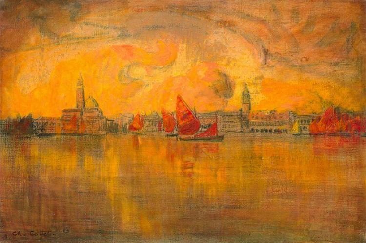 View of Venice from the Sea - Charles Cottet