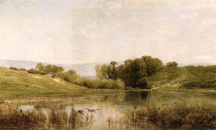 Pond Gijlieu - Charles-Francois Daubigny