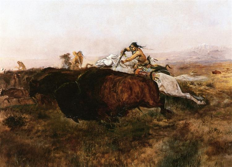Buffalo Hunt # 10, 1895 - Charles M. Russell