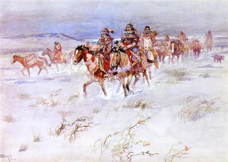 Crees Coming in to Trade, 1896 - Charles Marion Russell