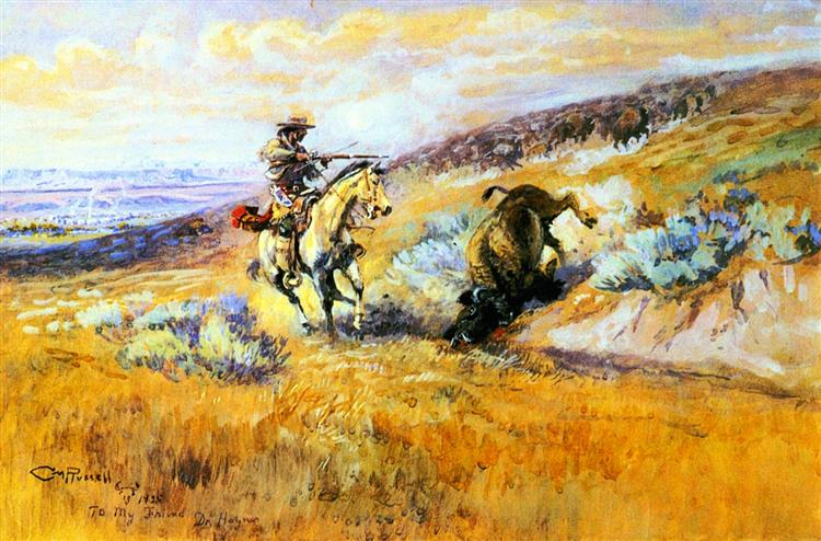 Meat for Wagons, 1925 - Charles Marion Russell