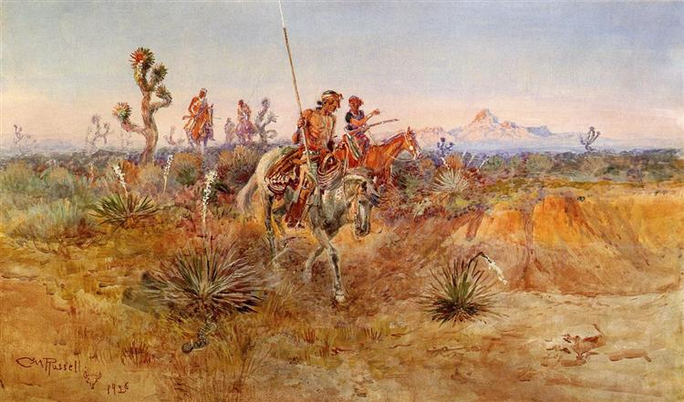 Navajo Trackers, 1926 - Charles M. Russell