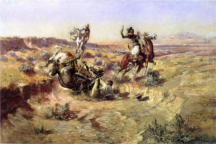 The Broken Rope, 1904 - Charles M. Russell