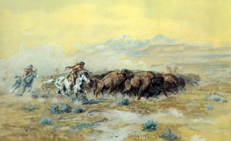 The Buffalo Hunt, 1903 - Charles M. Russell