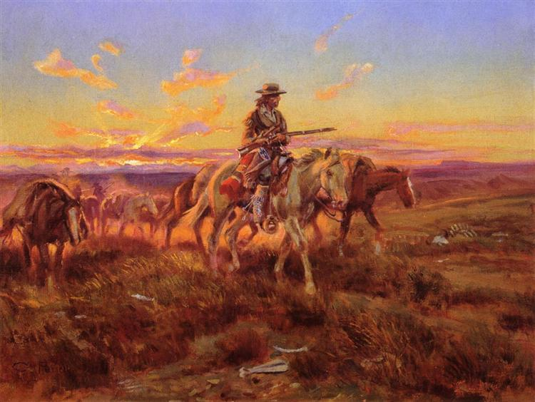 The Free Trader, 1925 - Charles Marion Russell