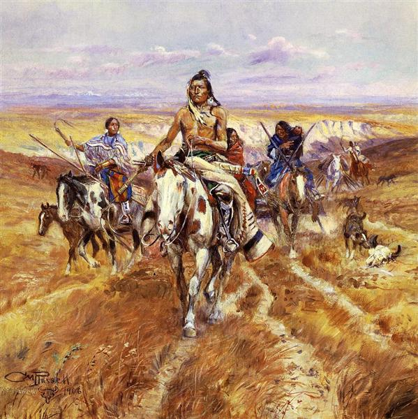When the Plains Were His, 1906 - Charles M. Russell