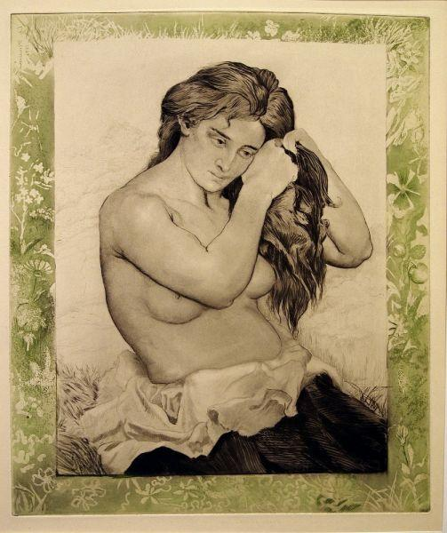 Nude Woman combing her Hair, 1891 - Charles Maurin