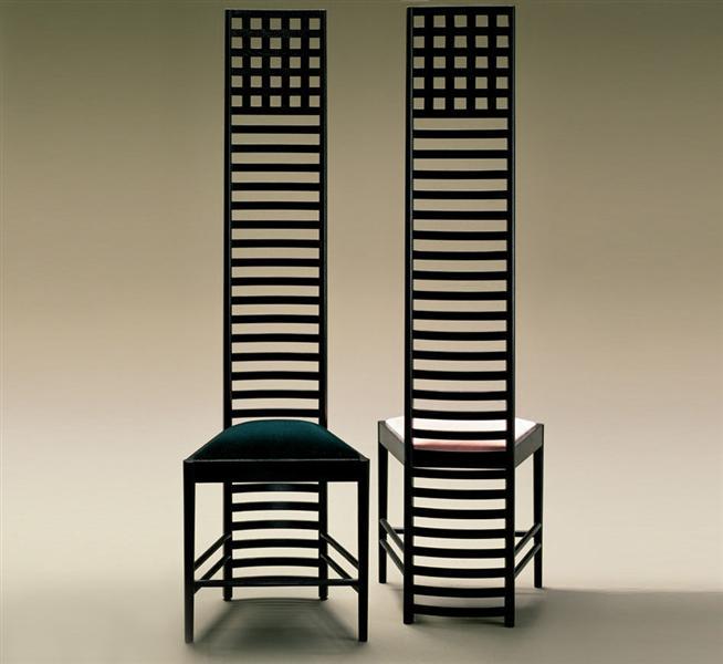 Chair design - Charles Rennie Mackintosh