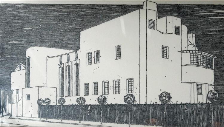Le dessin de Mackintosh de la 'House for an art lover', 1901 - Charles Rennie Mackintosh
