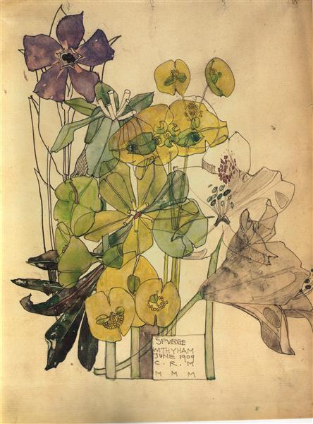 Spurge With Yham, 1909 - Charles Rennie Mackintosh