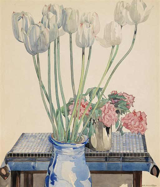 White tulips - Charles Rennie Mackintosh