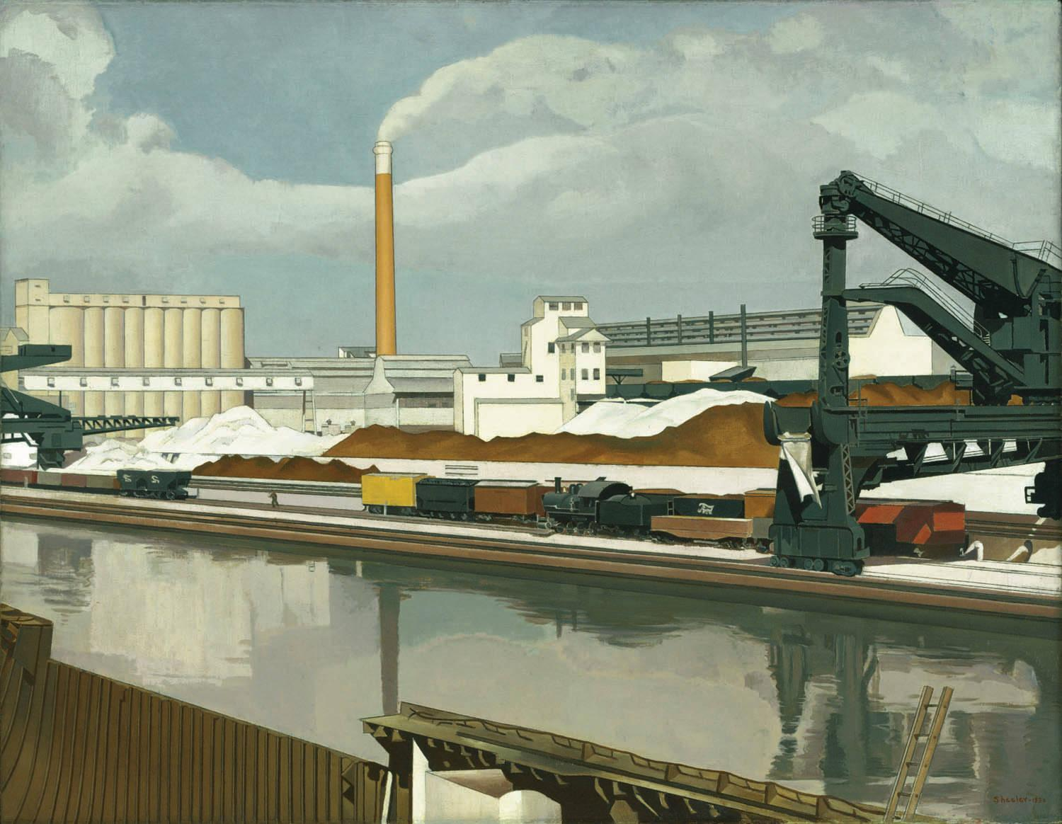 American Landscape 1930 Charles Sheeler Wikiart Org