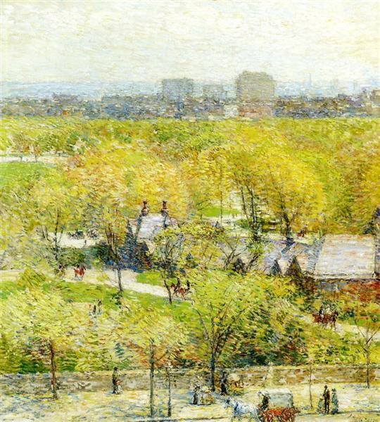 Across the Park, 1904 - Childe Hassam