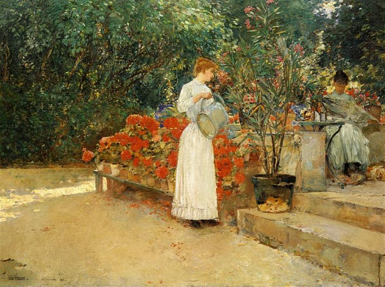 After Breakfast, 1890 - Childe Hassam