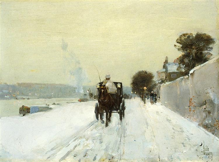 Along the Seine, 1887 - Childe Hassam