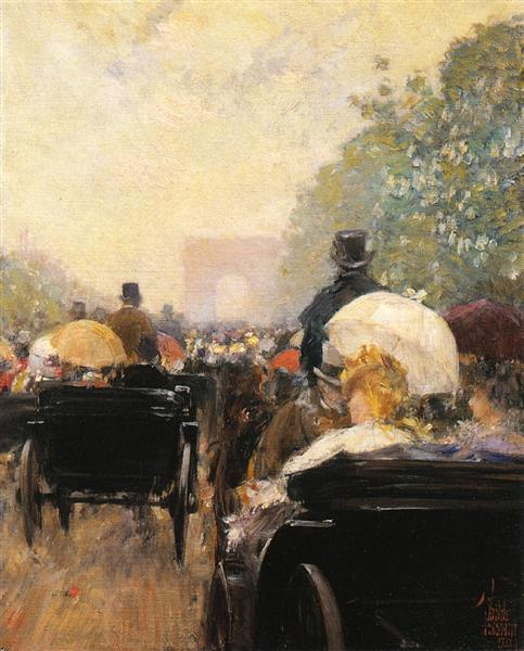 Carriage Parade, 1888 - Childe Hassam