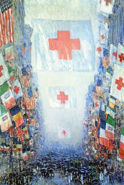 Celebration Day, 1918 - Childe Hassam
