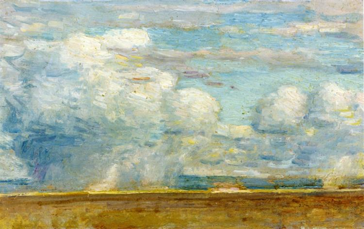 Clouds (also known as Rain Clouds over Oregon Desert), 1908 - Childe Hassam