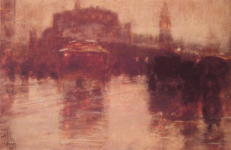 Columbus Avenue, 1886 - Childe Hassam