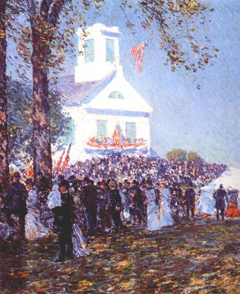 Country fair, New England, 1890 - Childe Hassam