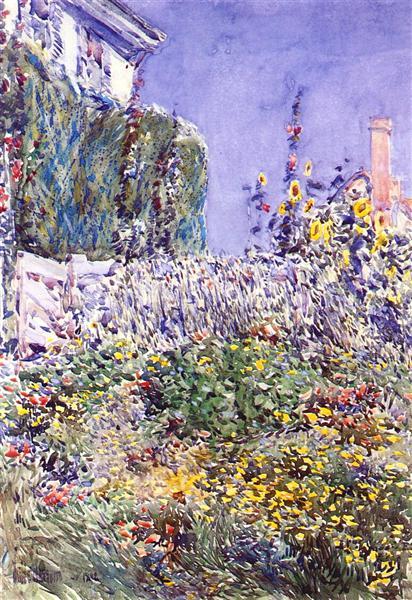 Dexter`s Garden, 1892 - Childe Hassam