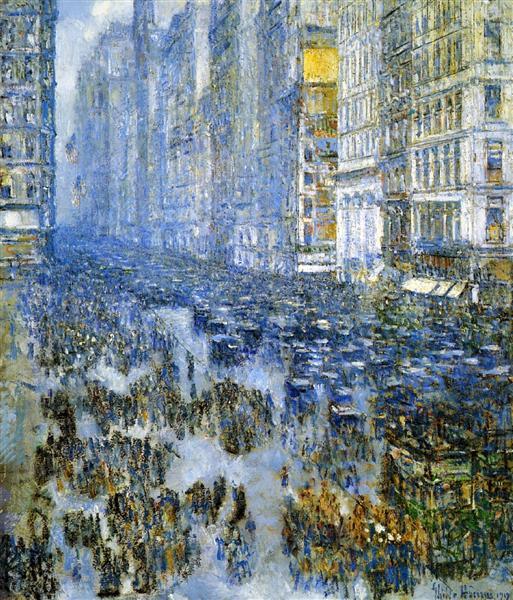 Fifth Avenue in Winter, 1919 - Childe Hassam
