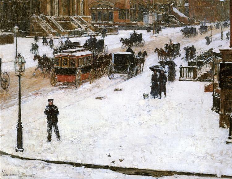 Fifth Avenue in Winter, c.1890 - Childe Hassam