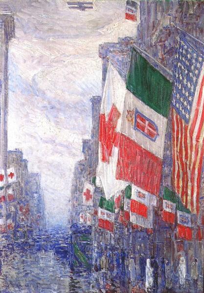 Italian day, May, 1918 - Childe Hassam