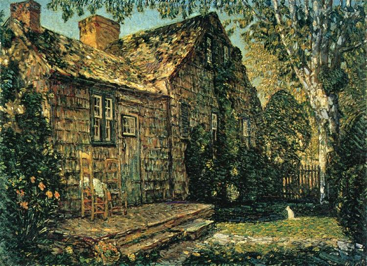 Little Old Cottage, Egypt Lane, East Hampton, 1917 - Childe Hassam