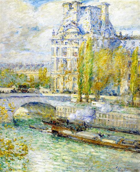 Louvre, 1897 - Childe Hassam