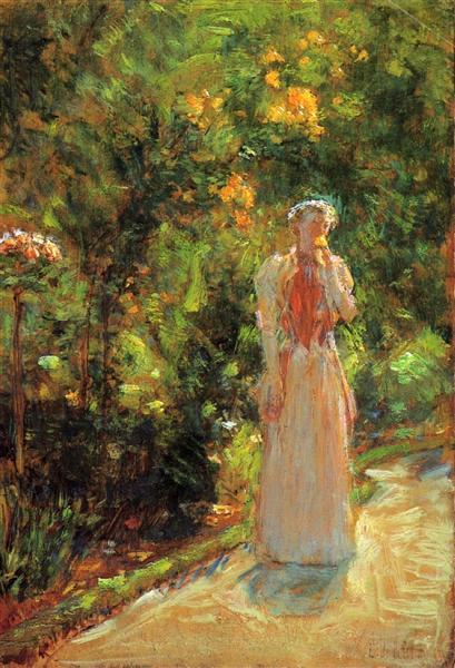 Mrs. Hassam in the Garden, 1888 - Childe Hassam