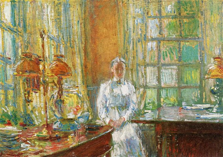 Mrs. Holley of Cos Cob, Connecticut, 1912 - Childe Hassam