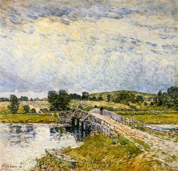 Old Lyme Bridge, 1903 - Childe Hassam