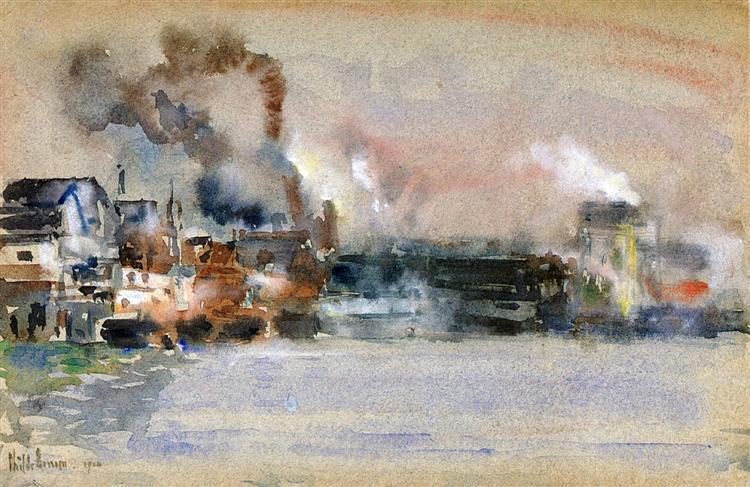 Portland Harbor, 1904 - Childe Hassam