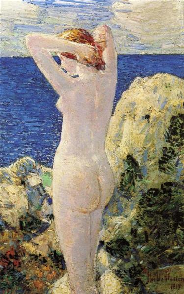 The Bather, 1915 - Childe Hassam