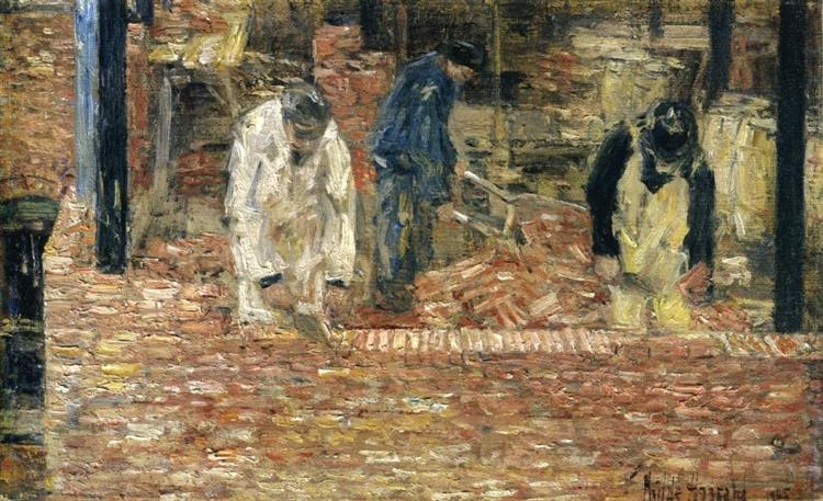 The Bricklayers, 1905 - Childe Hassam