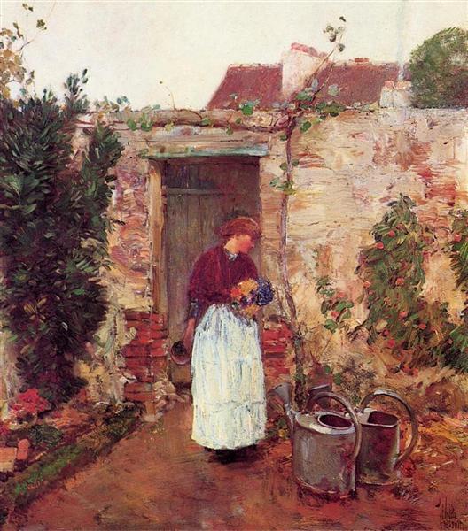 The Garden Door, 1888 - Childe Hassam