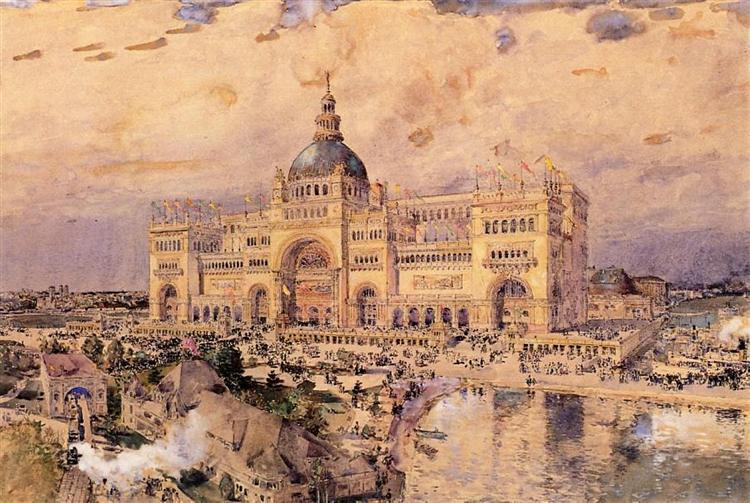 The Mackaye Spectatorium, 1893 - Childe Hassam