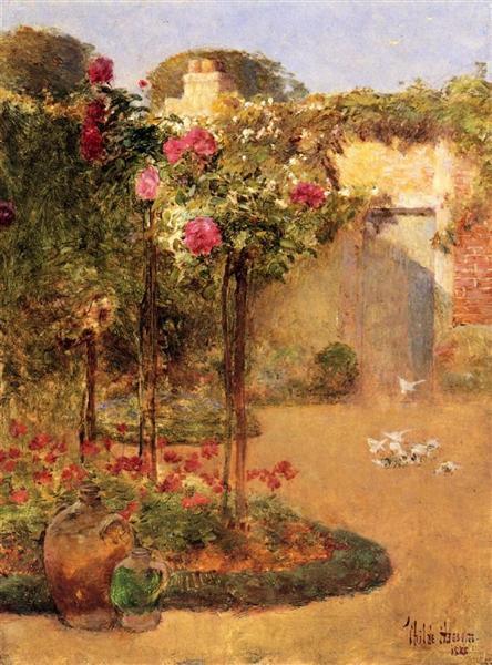 The Rose Garden, 1888 - Childe Hassam