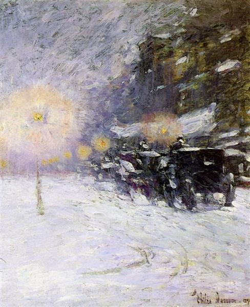 Winter Midnight,, 1894 - Childe Hassam