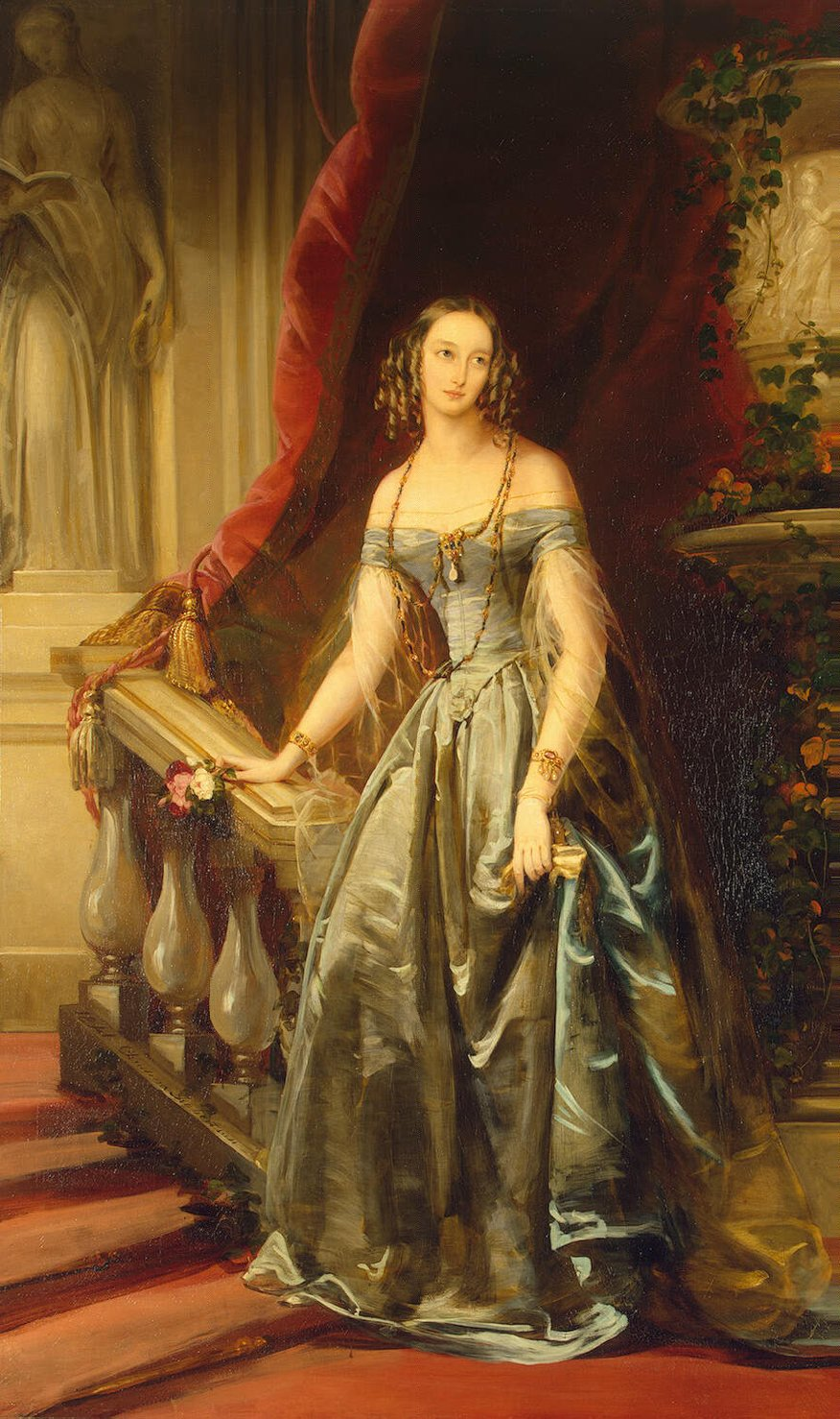 Portrait of Grand Duchess Olga Nikolaevna, 1841