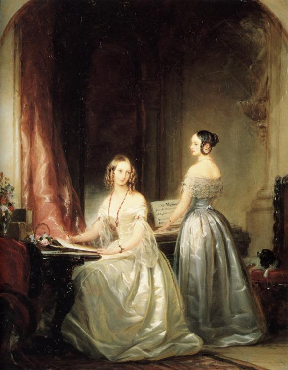Portrait of Grand Duchesses Olga Nikolaevna and Alexandra Nikolaevna, 1840