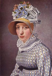 Portrait of Anna Maria Magnani - Christoffer Wilhelm Eckersberg