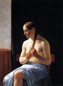 Seated Nude Model - Christoffer Wilhelm Eckersberg