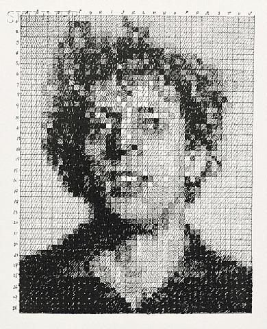 Phil, 1976 - Chuck Close
