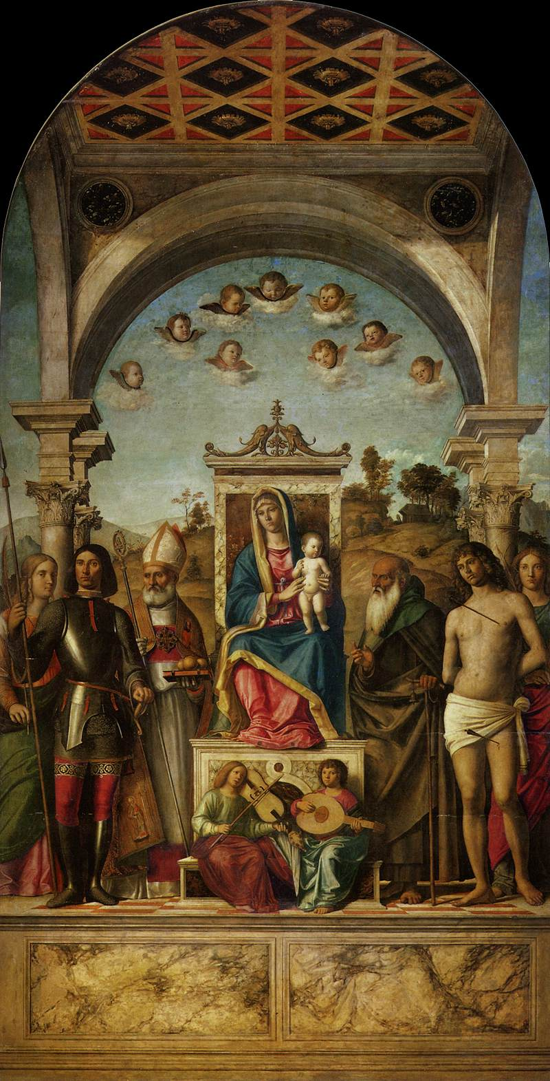 Madonna and Child with saints, 1497