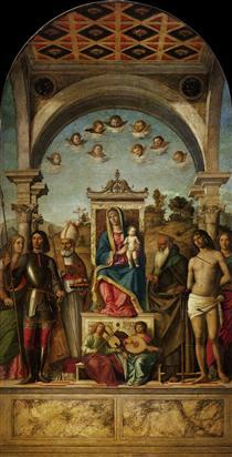 Madonna and Child with saints - Cima da Conegliano