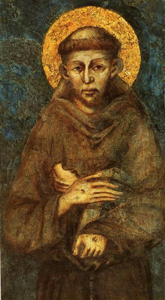 Saint Francis of Assisi (detail) - Cimabue - WikiArt.org