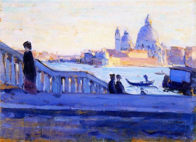La Salute from the Ponte della Paglia, Venice, 1905 - Clarence Gagnon